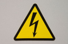 There is a risk of electric shock when working near power lines