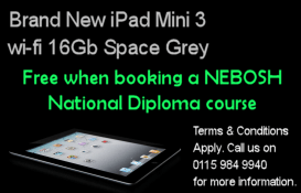 Enrol on a NEBOSH Diploma course and get a free iPad mini