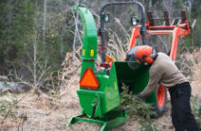 Tree shredders and other machinery can be dangerous if not used correctly